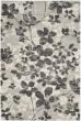 Product Image of Floral / Botanical Grey, Black (R) Area Rug