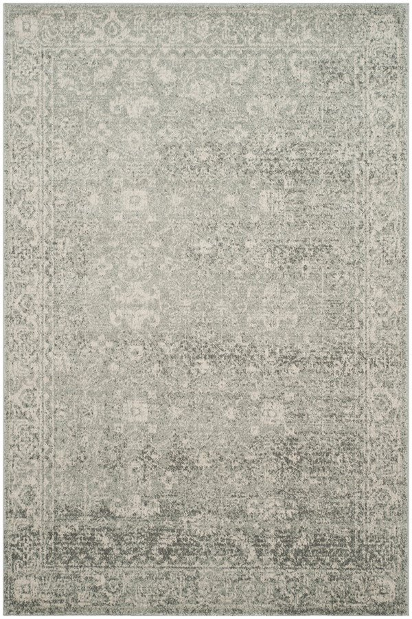 Silver, Ivory (Z) Traditional / Oriental Area Rug