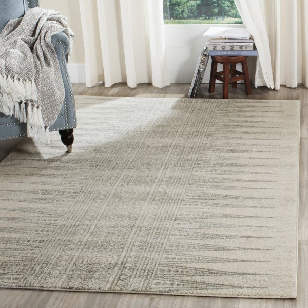 Ivory, Silver (Z) Moroccan Area Rug