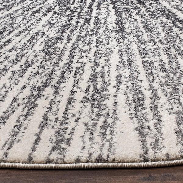 Black, Ivory (K) Contemporary / Modern Area Rug