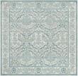 Product Image of Ivory, Light Blue (C) Damask Area Rug