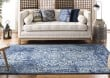 Product Image of Navy, Ivory (A) Rustic / Farmhouse Area Rug