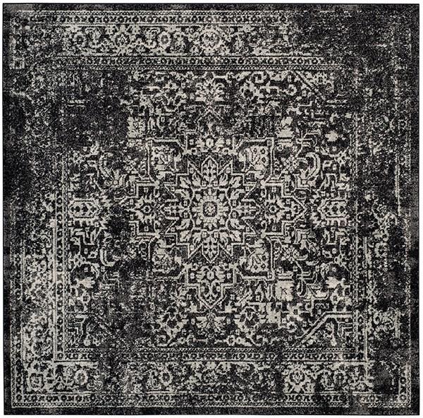 Black, Grey (R) Rustic / Farmhouse Area Rug