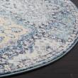 Product Image of Light Blue, Ivory (C) Rustic / Farmhouse Area Rug