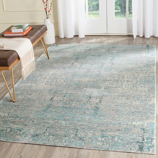 Teal (A) Vintage / Overdyed Area Rug