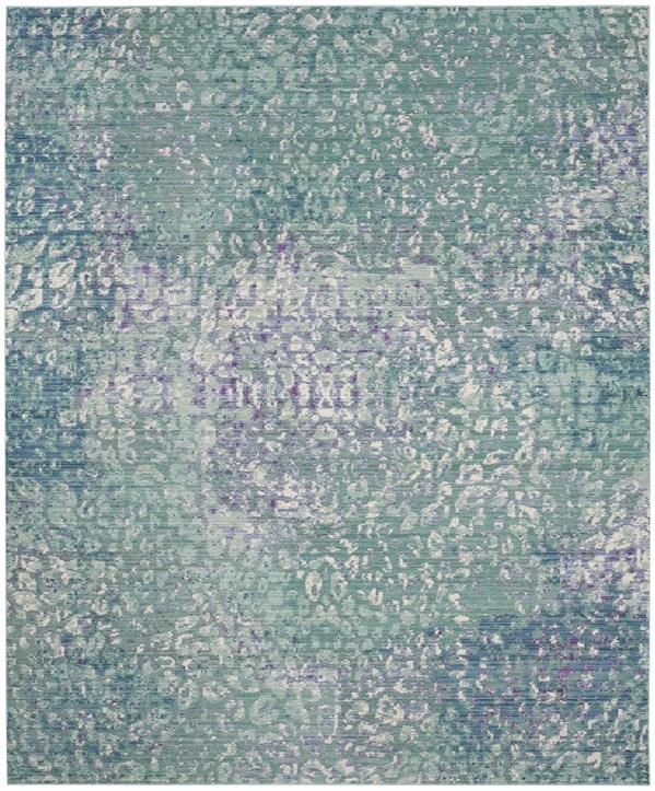 Blue (F) Contemporary / Modern Area Rug