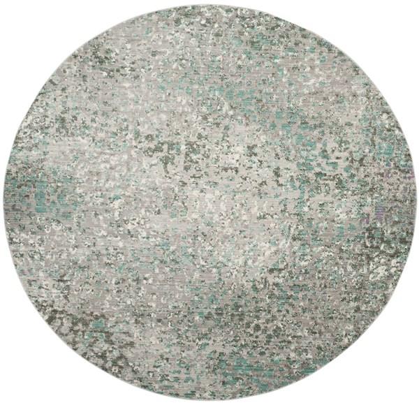 Grey, Light Blue (L) Contemporary / Modern Area Rug