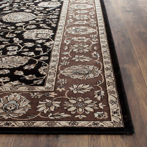 Black, Red (F) Traditional / Oriental Area Rug