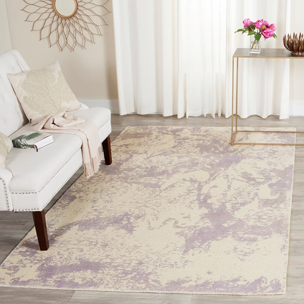 Grey, Ivory (A) Abstract Area Rug