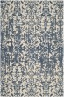 Product Image of Contemporary / Modern Ivory, Blue (A) Area Rug