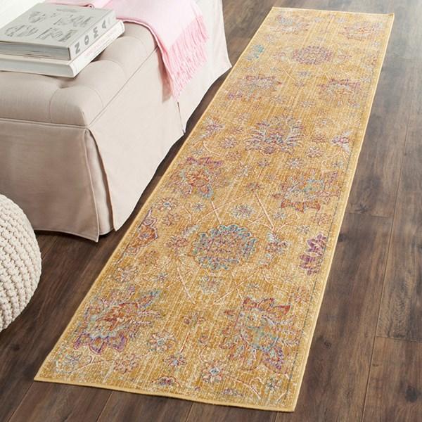 Gold (E) Traditional / Oriental Area Rug
