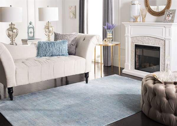 Teal (T) Traditional / Oriental Area Rug
