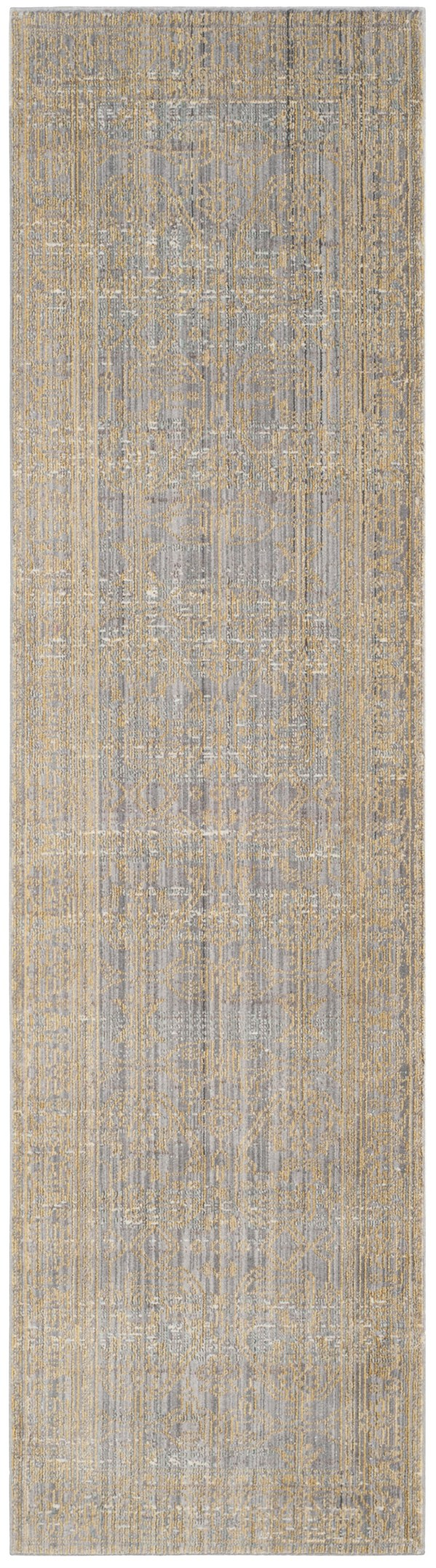 Grey, Gold (E) Traditional / Oriental Area Rug