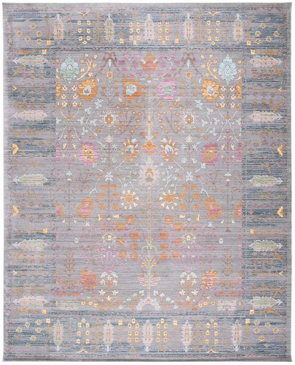 Grey (C) Vintage / Overdyed Area Rug