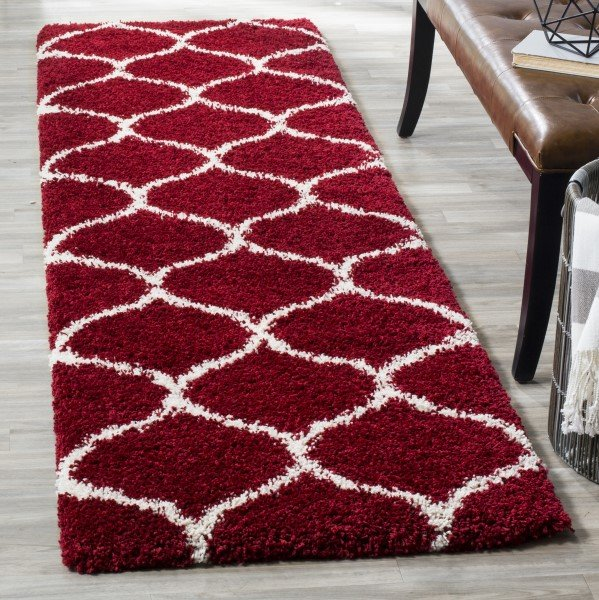 Red, Ivory (R) Transitional Area Rug