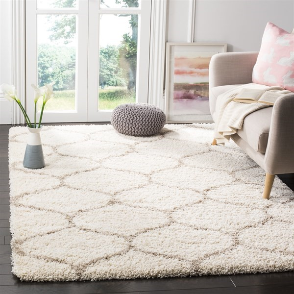 Ivory, Beige (D) Contemporary / Modern Area Rug