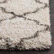 Product Image of Ivory, Grey (A) Shag Area Rug