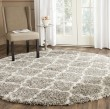 Product Image of Grey, Ivory (B) Shag Area Rug