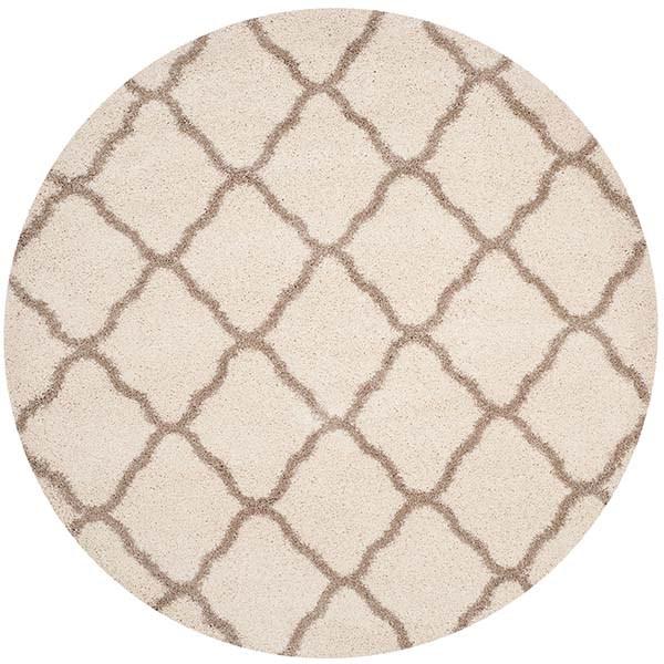 Ivory, Beige (D) Shag Area Rug