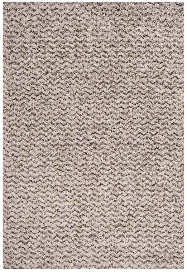 Ivory, Grey (A) Shag Area Rug