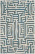 Product Image of Contemporary / Modern Ivory, Light Blue (C) Area Rug