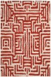 Product Image of Contemporary / Modern Ivory, Terracotta (B) Area Rug