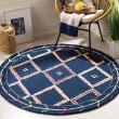 Product Image of Navy, Pink (N) Bohemian Area Rug