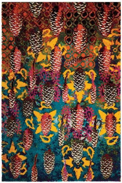 Turquoise (K) Shag Area Rug
