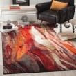 Product Image of Red (A) Abstract Area Rug