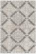 Product Image of Damask Dark Grey, Ivory (D) Area Rug