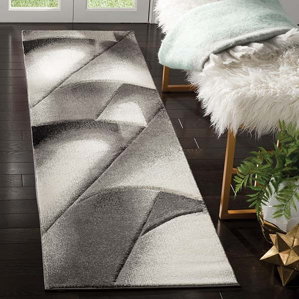 Grey, Dark Grey (G) Contemporary / Modern Area Rug