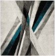 Product Image of Grey, Teal (D) Contemporary / Modern Area Rug