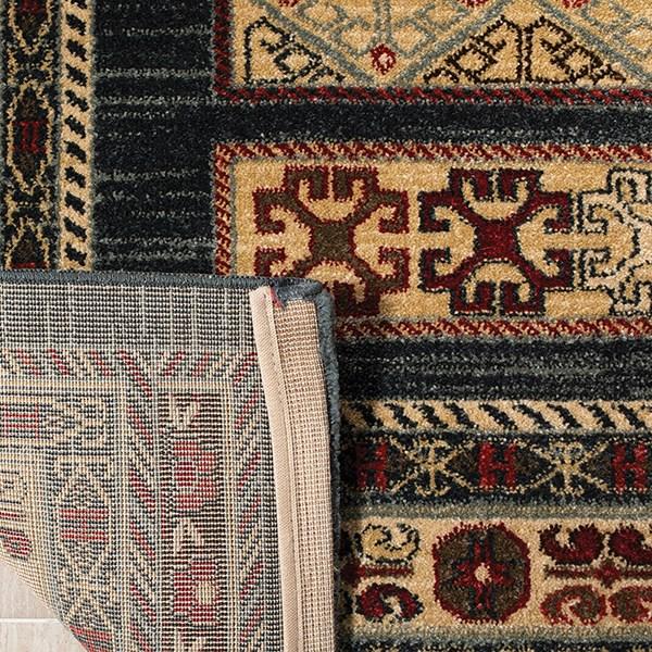 Navy, Cream (C) Traditional / Oriental Area Rug