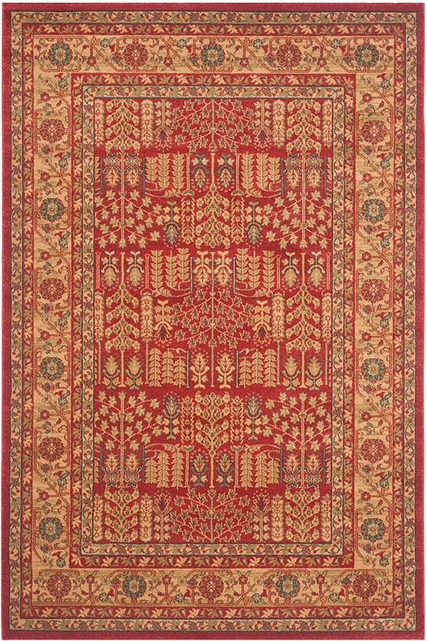 Red, Natural (A) Traditional / Oriental Area Rug