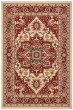 Product Image of Traditional / Oriental Cream, Red (C) Area Rug