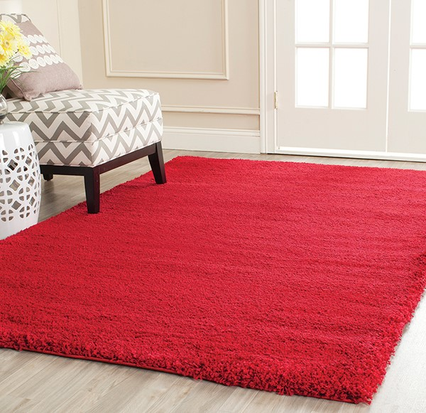 Red (4040) Shag Area Rug