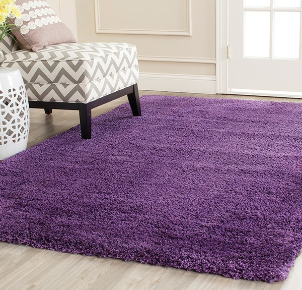 Purple (7373) Shag Area Rug