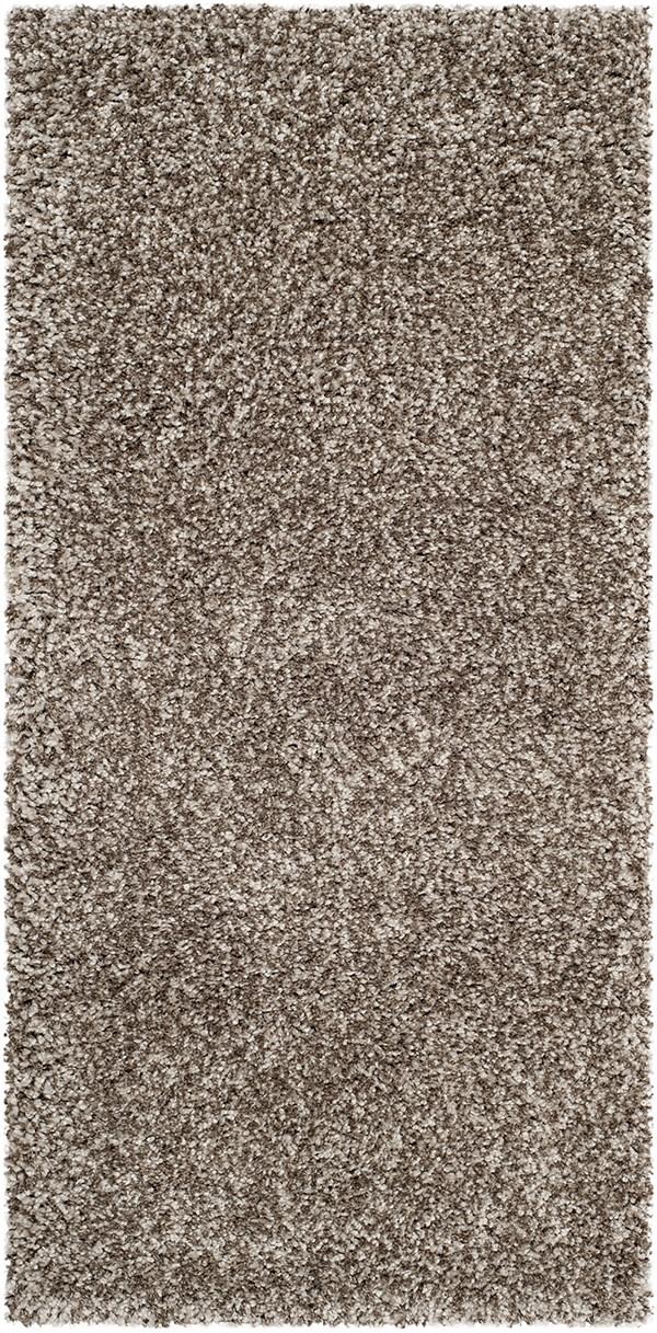 Grey (8080) Shag Area Rug