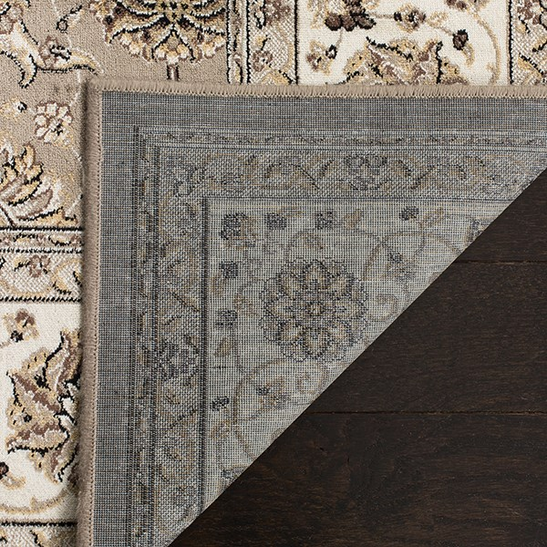 Silver, Ivory (T) Traditional / Oriental Area Rug