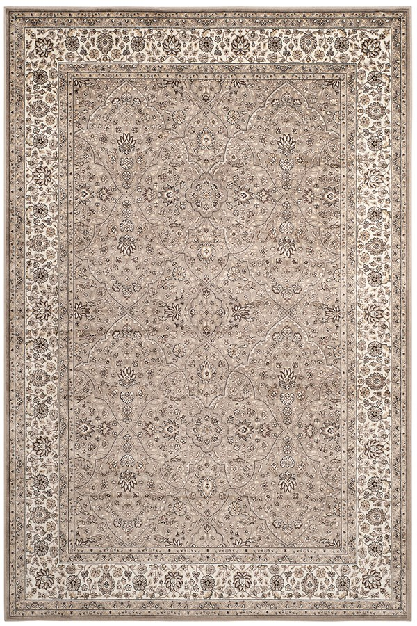 Taupe, Ivory (C) Traditional / Oriental Area Rug
