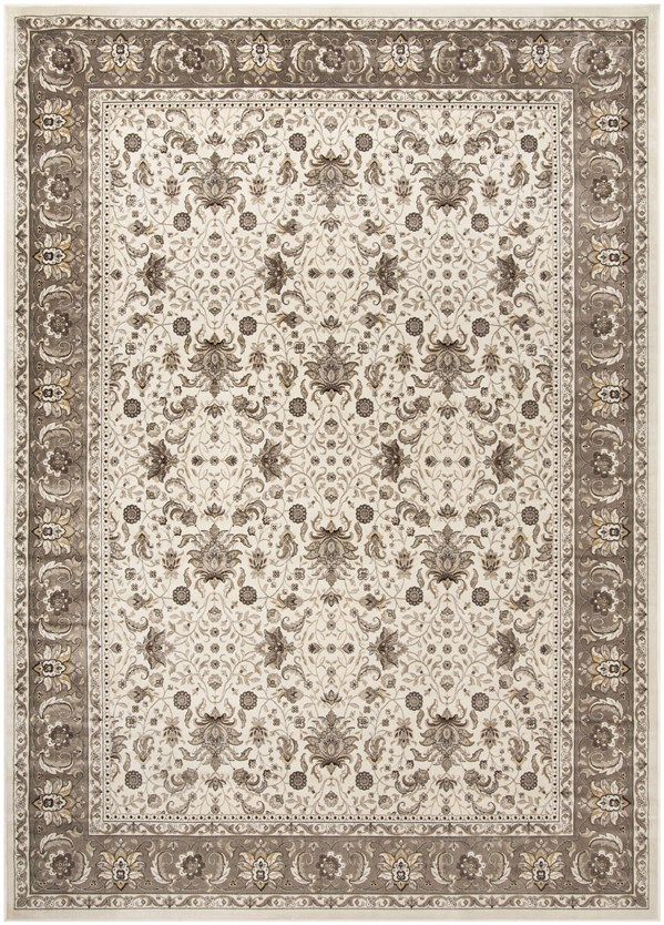 Ivory, Taupe (D) Traditional / Oriental Area Rug