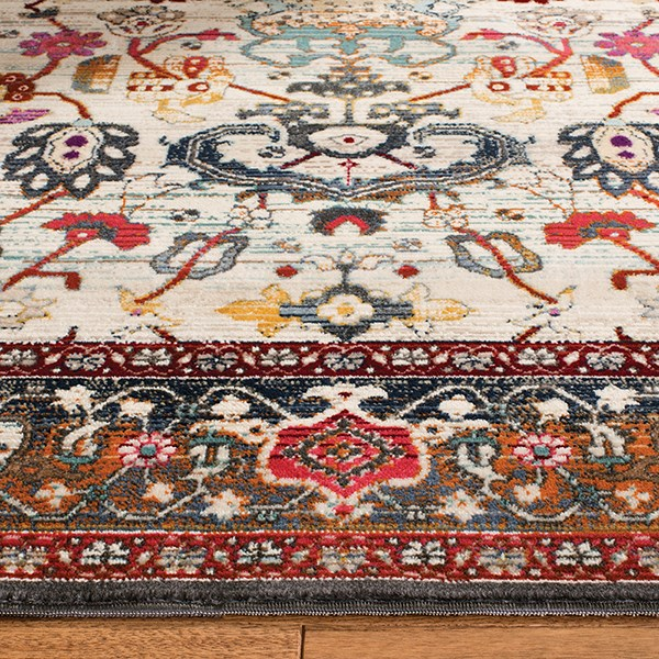 Ivory, Anthracite (D) Vintage / Overdyed Area Rug