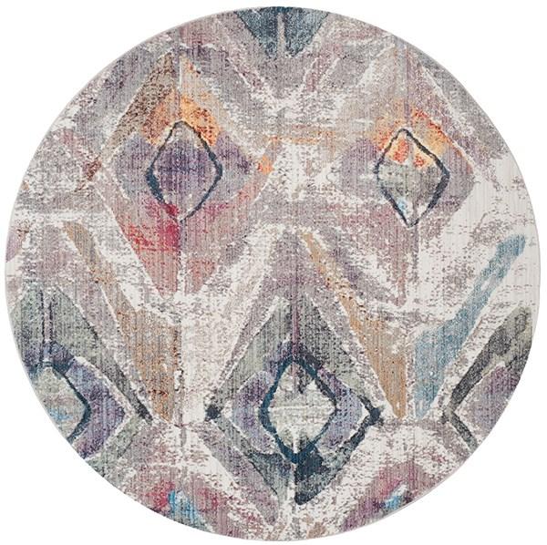 Lavender, Light Grey (P) Vintage / Overdyed Area Rug