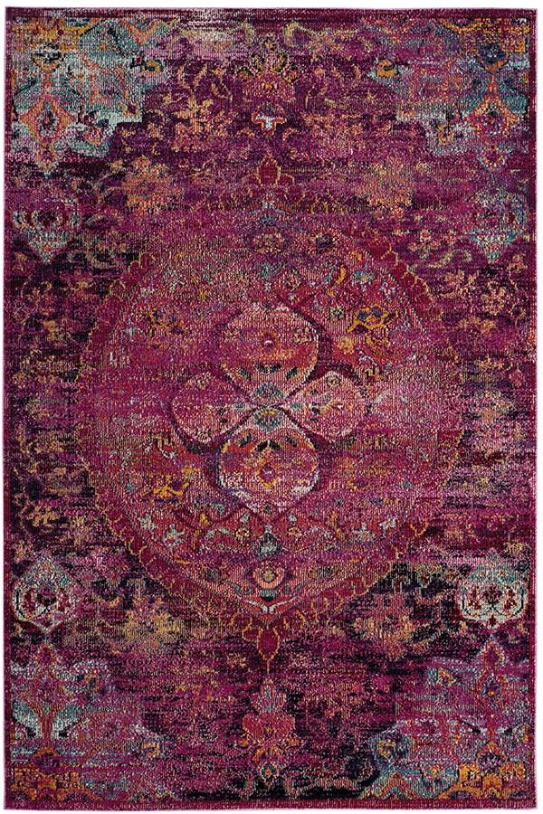 Fuchsia, Purple (S) Vintage / Overdyed Area Rug