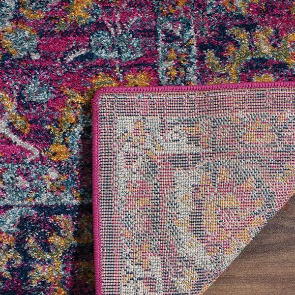 Fuchsia, Orange, Teal (D) Vintage / Overdyed Area Rug