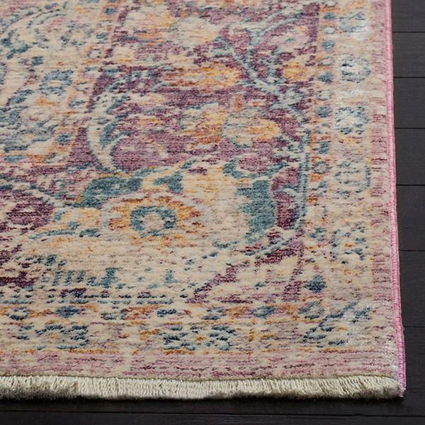 Light Purple, Purple (A) Vintage / Overdyed Area Rug