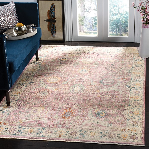 Rose, Cream (F) Vintage / Overdyed Area Rug