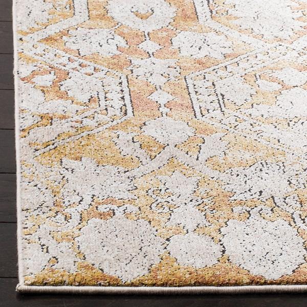 Gold, Beige (G) Vintage / Overdyed Area Rug