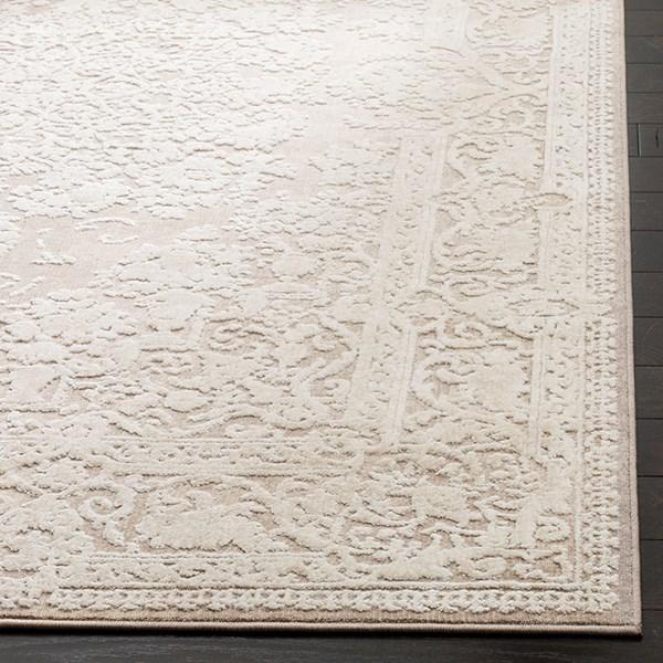 Beige, Cream (A) Traditional / Oriental Area Rug