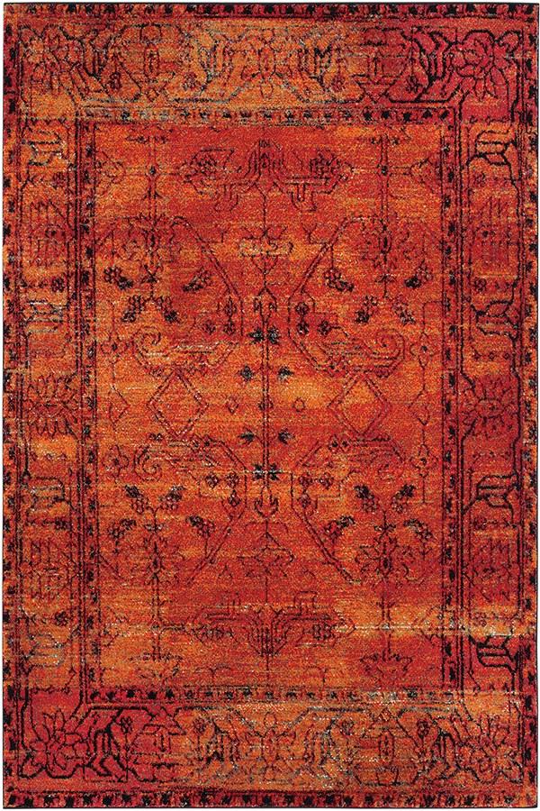 Orange (C) Traditional / Oriental Area Rug